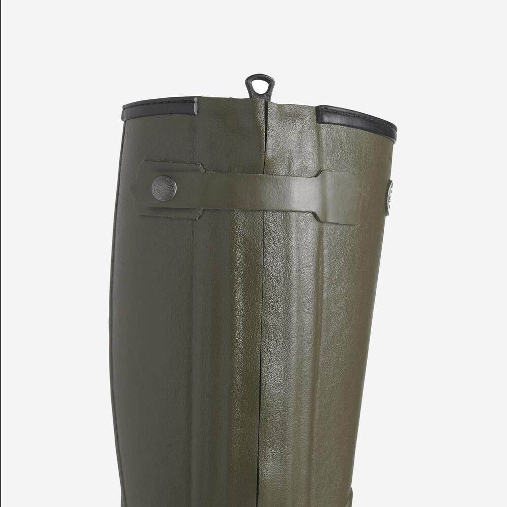 Le Chameau Chasseur Fourree Fur Lined Mens Wellington Boot - Dark Green Dark Green