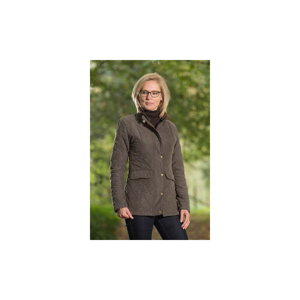 Baleno Cheltenham Ladies Quilted Jacket Dark Olive