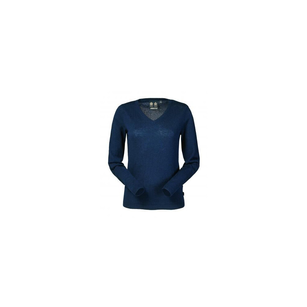 Musto Musto Franklyn Merino Ladies V Neck Jumper - Navy