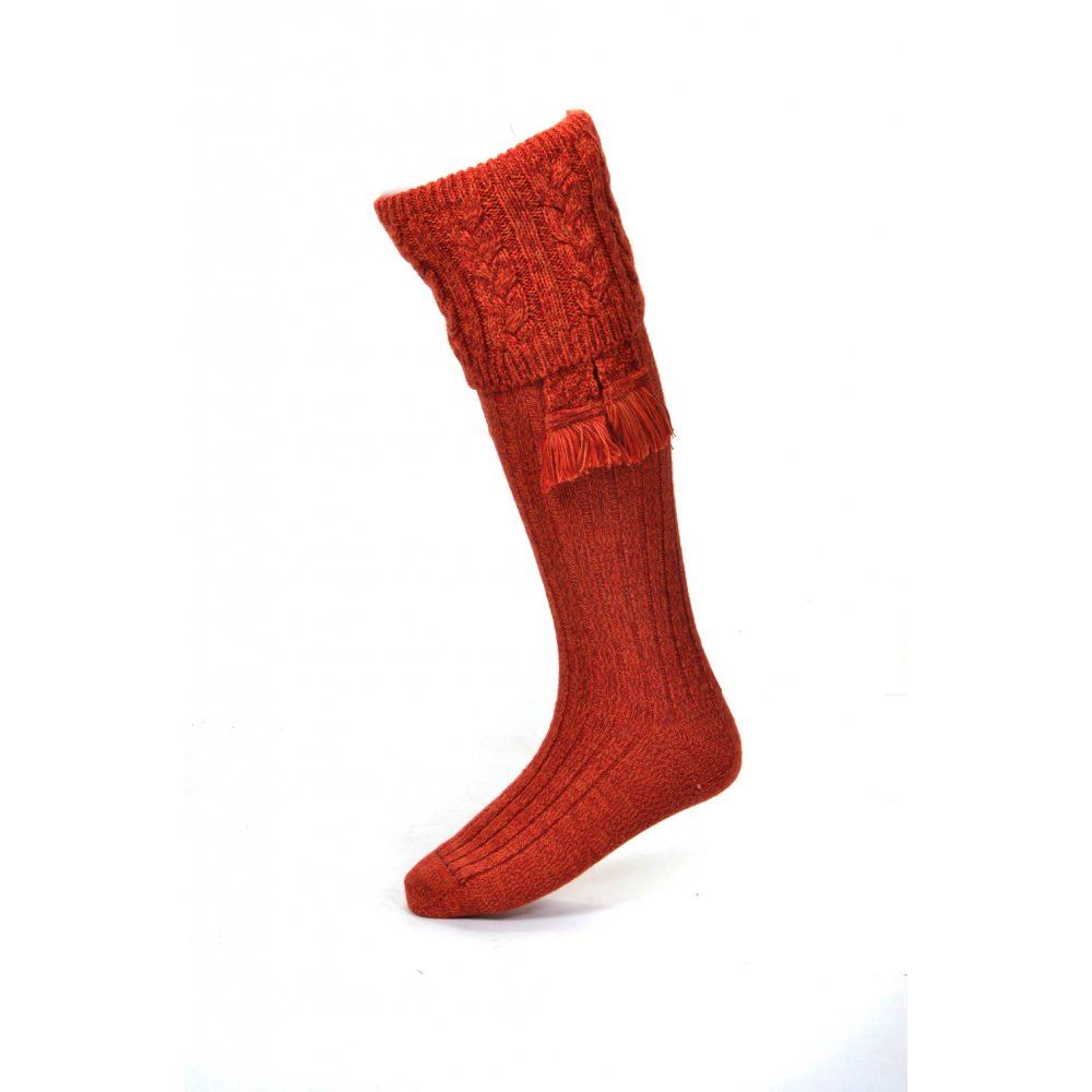 House of Cheviot Sandringham Sock - Autumn Glow - XL