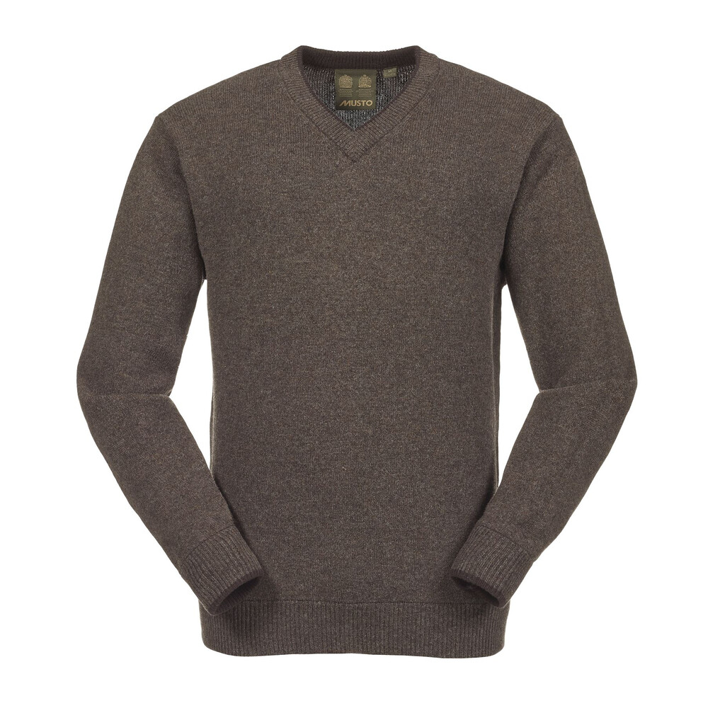 Musto Shooting V-Neck Knit - Mulch