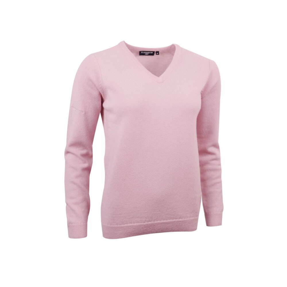 Glenmuir Glenmuir Nina Ladies V-Neck Lambswool Jumper in Tahiti
