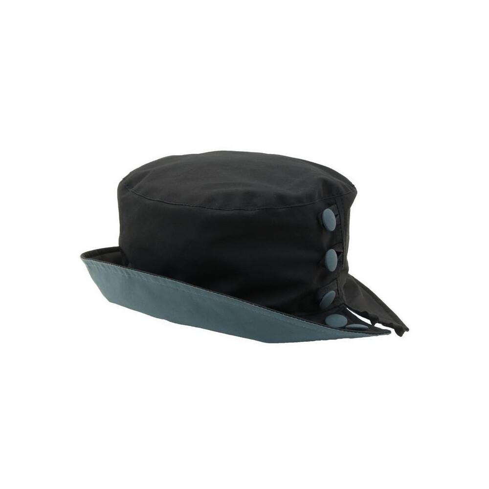 Olney Olney Olivia Wax Split Brim and Button Hat - Navy
