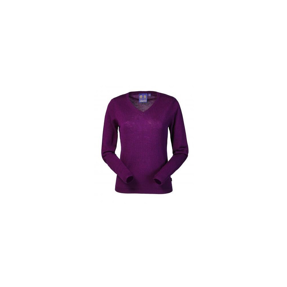 Musto Franklyn Merino Ladies V-Neck Jumper - Bordeaux Bordeaux