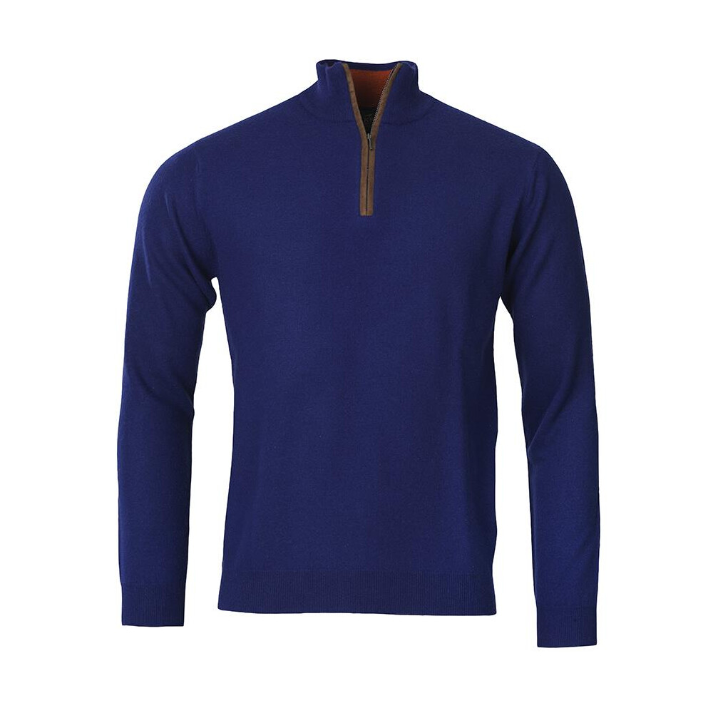 Laksen Grouse 19 Zip Neck Knit - Royal Royal Blue