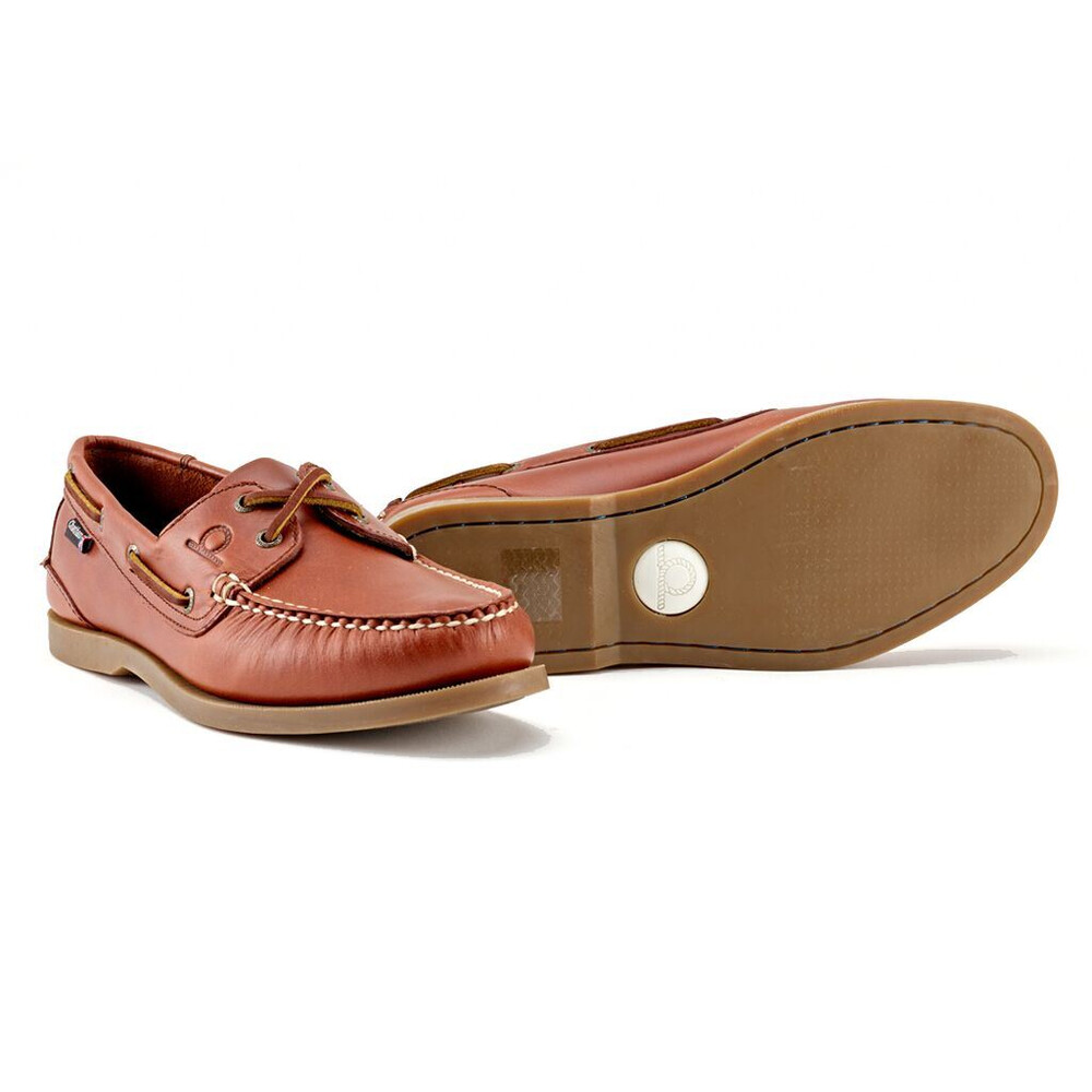 Chatham Deck II G2 Leather Boat Shoe Chestnut