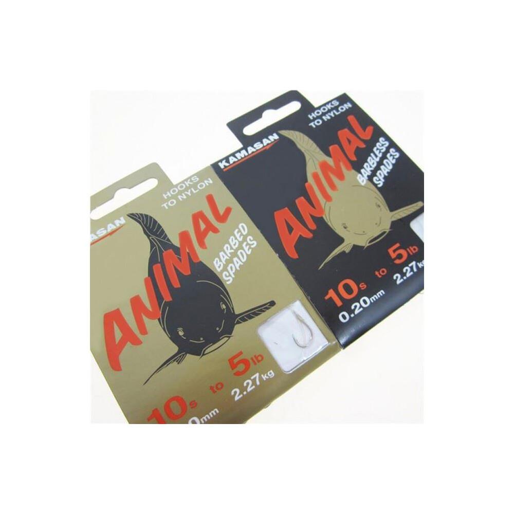Kamasan Animal Hook To Nylon - Barbless Black & Gold