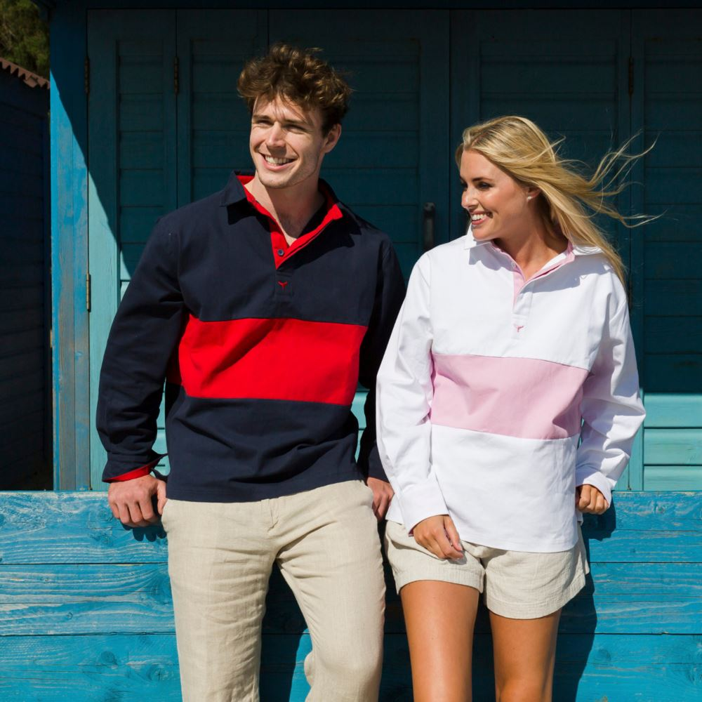Whale of a Time Padstow Deck Shirt - Navy/Red Multi