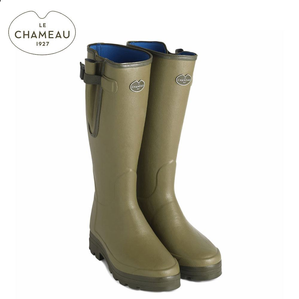 Le Chameau Le Chameau Vierzonord XL Neoprene Lined Wellington Boots - Light Green