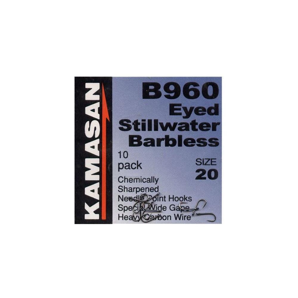 Kamasan B960 Eyed Stillwater Hooks - Barbless