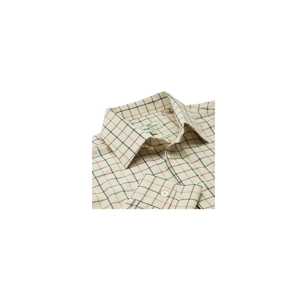 Hoggs Of Fife Hoggs of Fife Ambassador Premier Tattersall Shirt in Cream Check