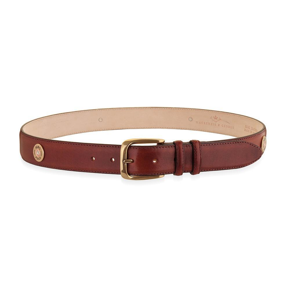 Mackenzie & George Marlborough Belt - Conker Brown