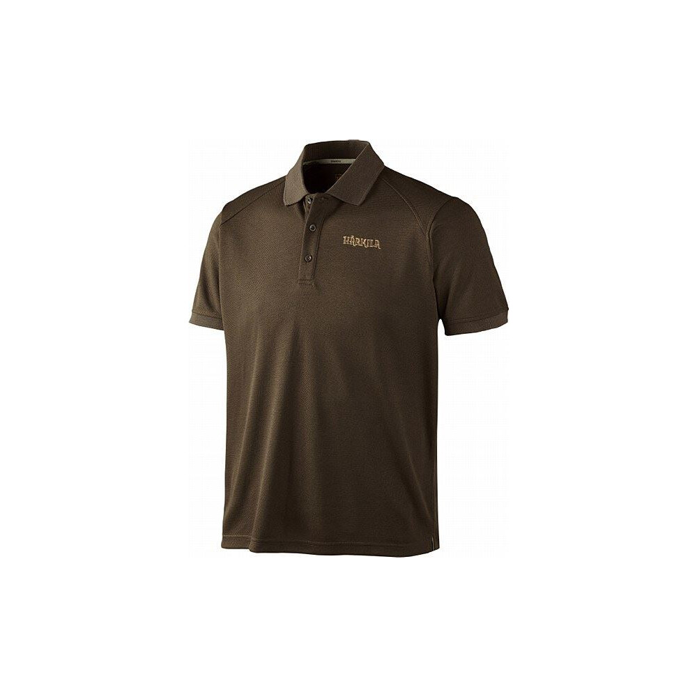 Harkila Gerit Polo Shirt - Demitasse Brown