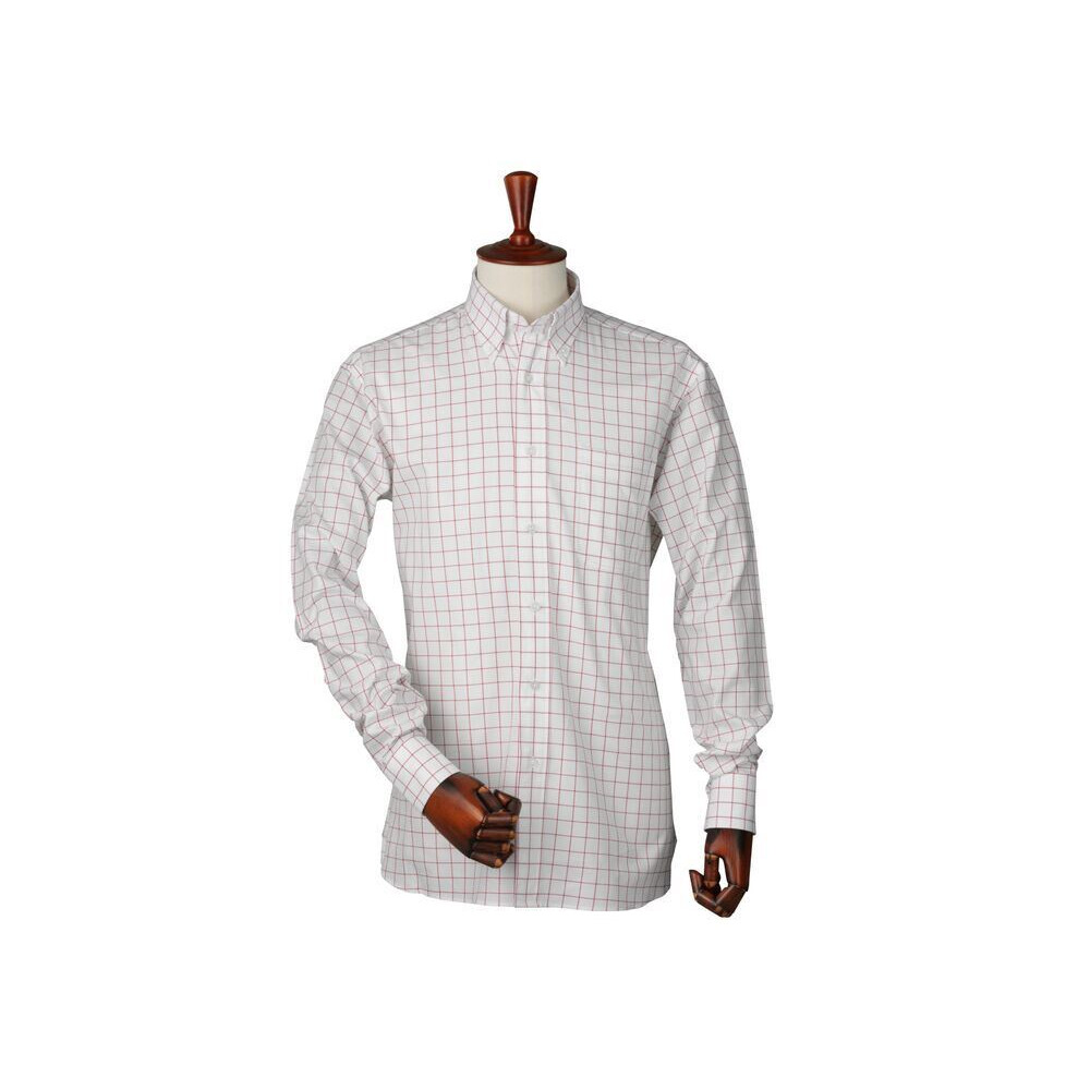 Laksen Laksen Greg Oxford Shirt - Red Grenade