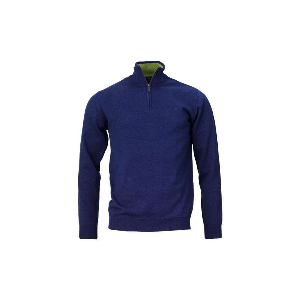 Laksen Fenton Zip-Neck Jumper - Blue Blue