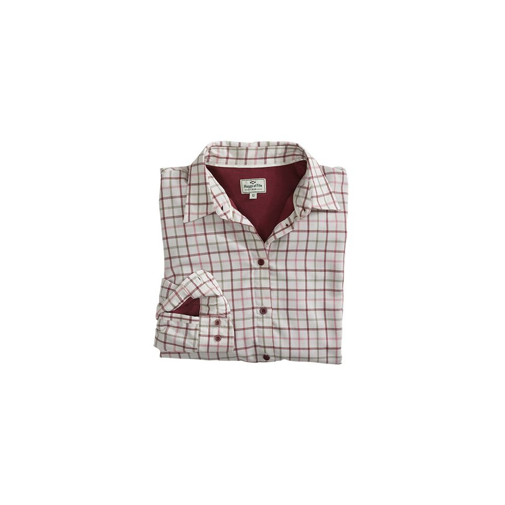 Hoggs Of Fife Hoggs of Fife Erin Ladies Jersey Lined Shirt - Cream/Apple Multi