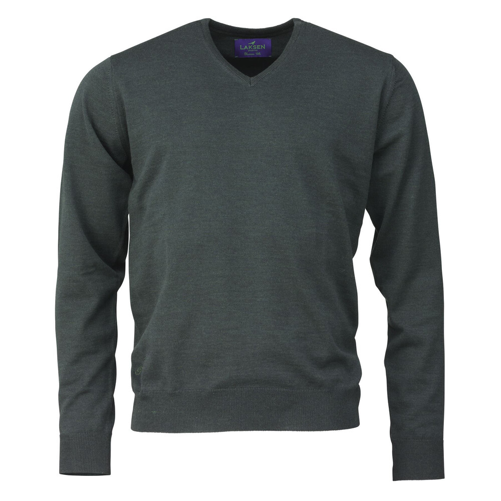 Laksen Glorious 12th V Neck Sweater - Dark Green