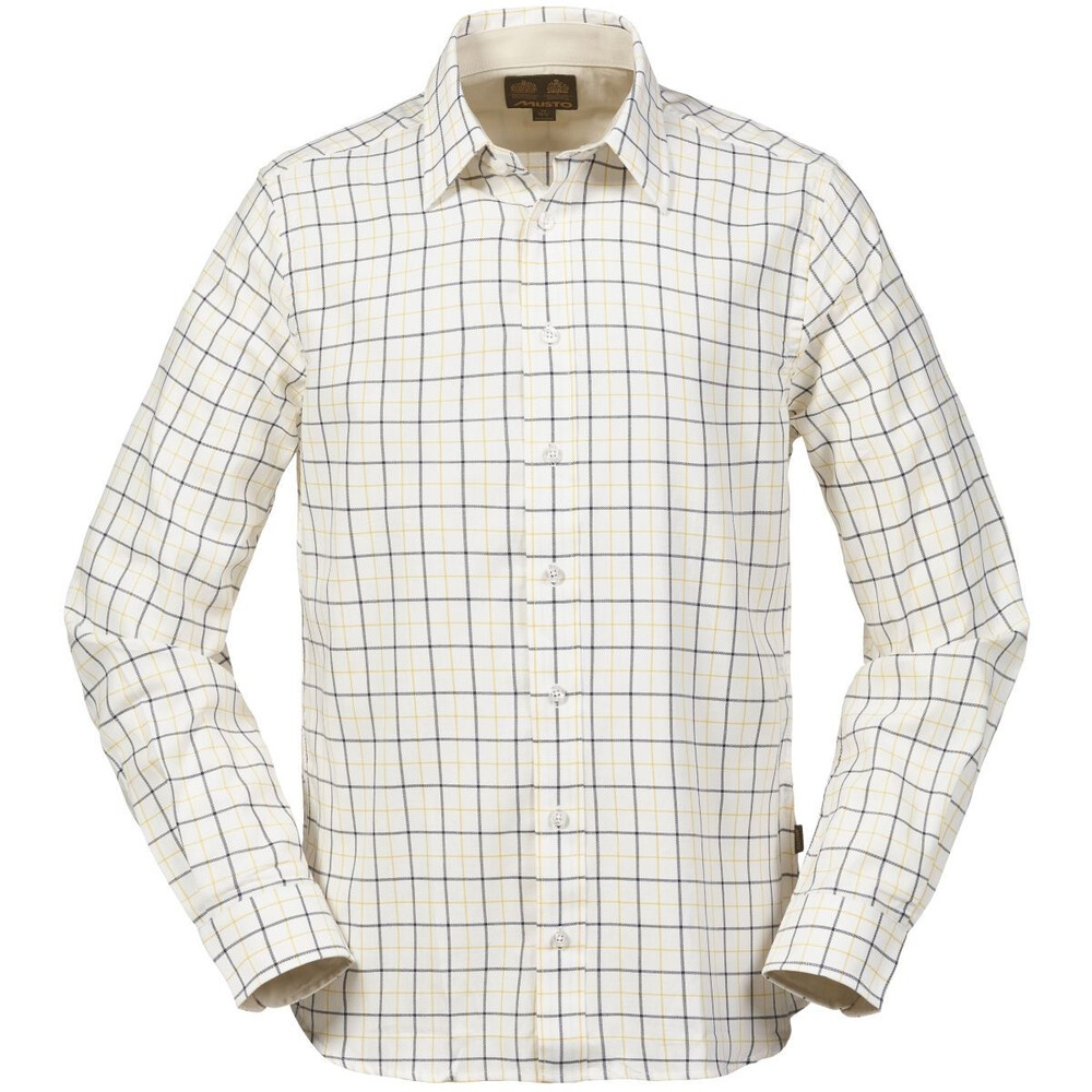 Musto Country Shirt - Navy Gold Check Multi