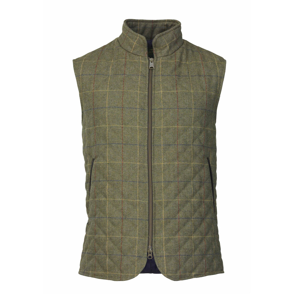 Laksen Woodhay Tweed Quilted Vest