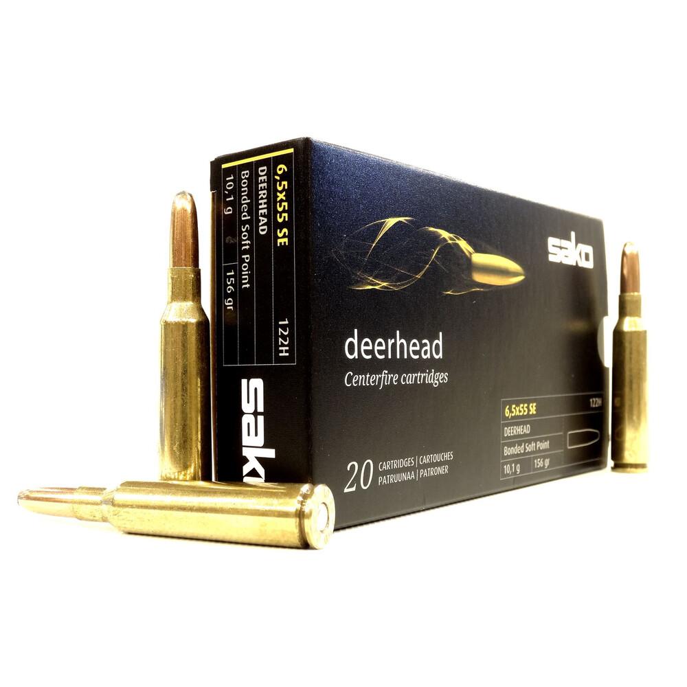 Sako 6.5x55 Ammunition - 156gr - Deerhead Black