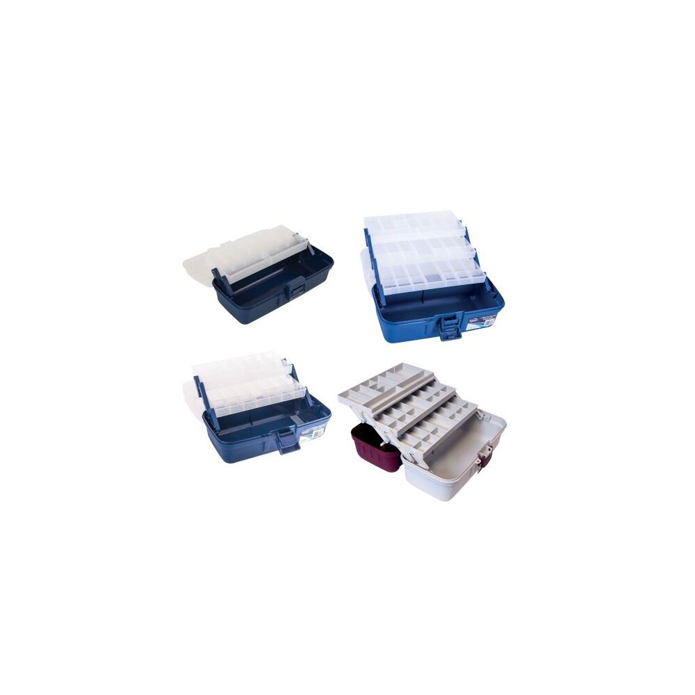 Jarvis Walker Deluxe Tackle Box - 2 Tray - Blue/Clear
