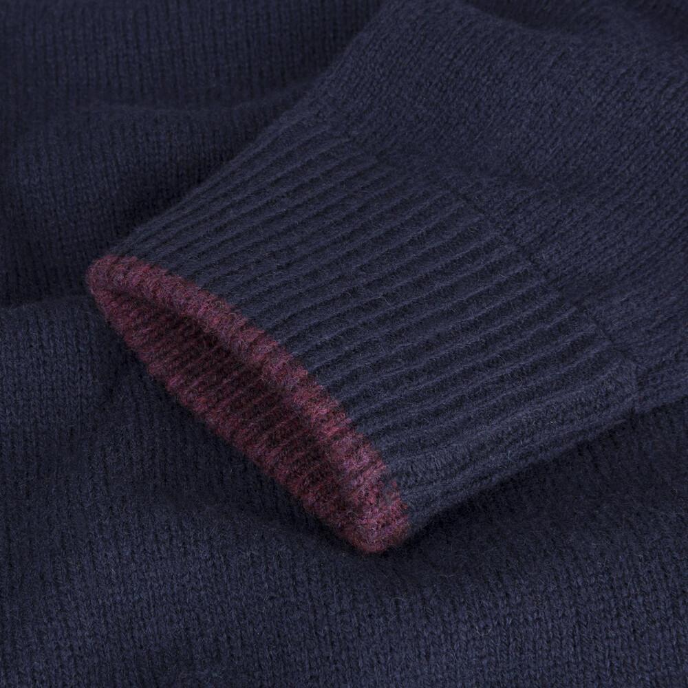 Musto Shooting Zip Neck Knit - True Navy True Navy