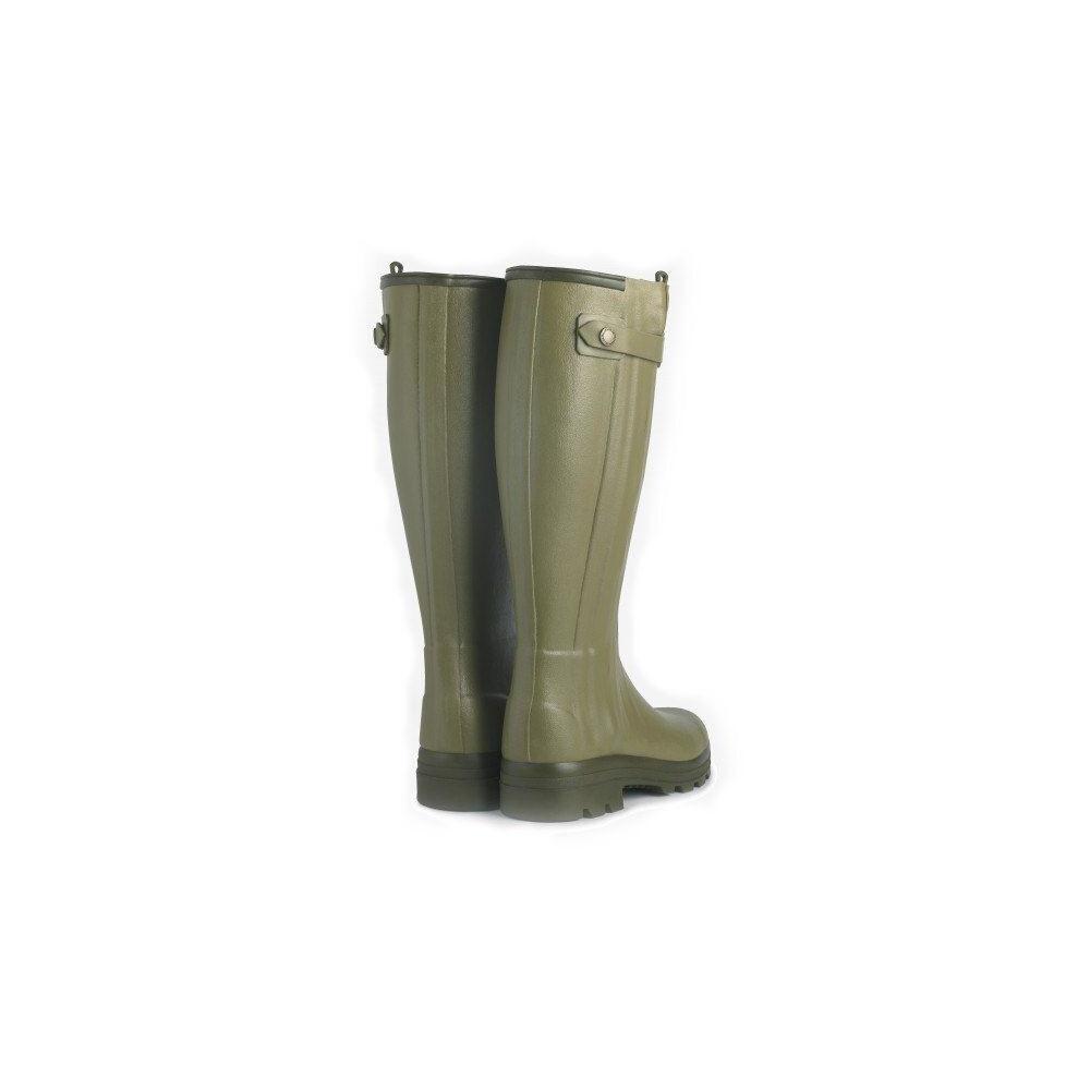 Le Chameau Chasseur Leather Lined Men's Wellington Boots - 41cm Calf Vert Vierzon