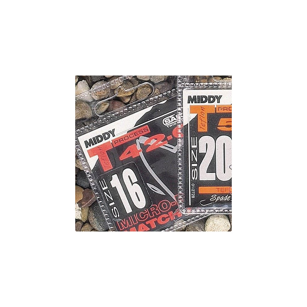 Middy T42-0 Fine Spade Micro-Barbed Hooks