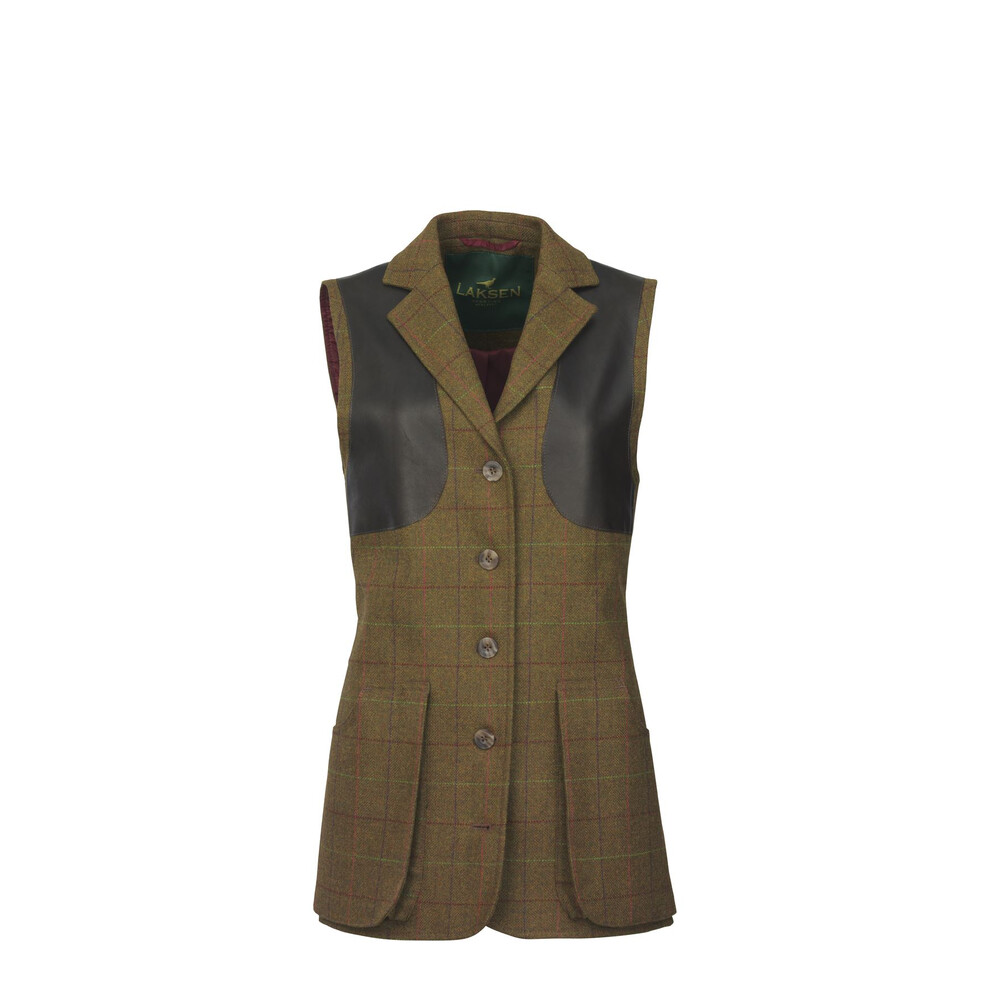 Laksen Temple Tweed Tailored Shooting Vest Brown