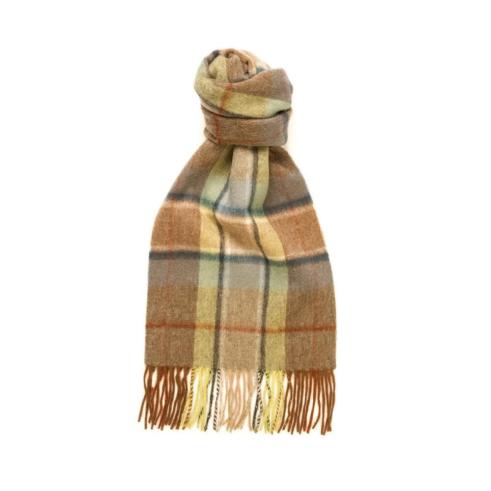 Murray Hogarth Hogarth Lambswool Check Scarf - Heather Blue