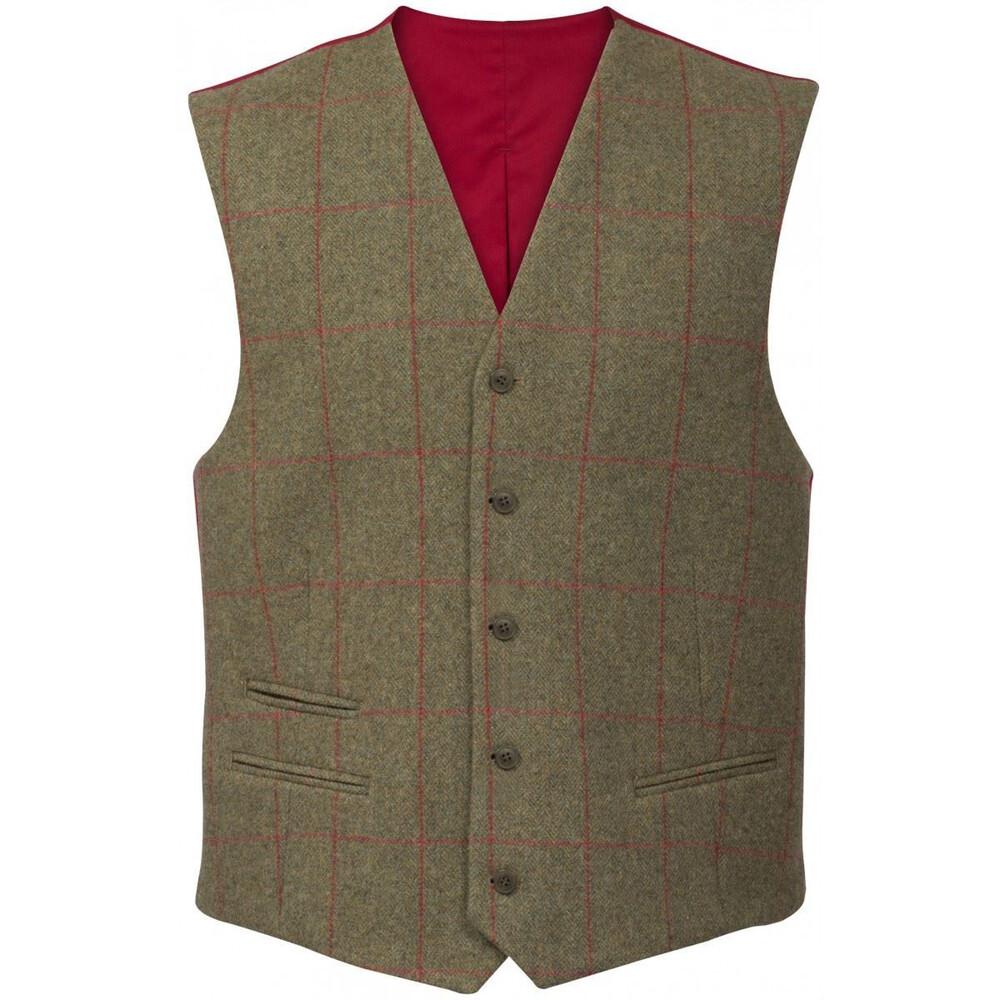 Alan Paine Alan Paine Combrook Lined Back Waistcoat - Sage