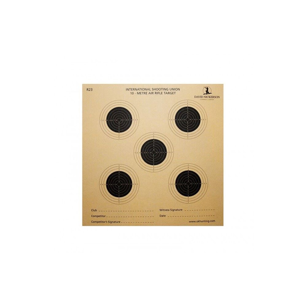 Unknown David Nickerson Paper Targets - Bull Pistol - Pack of 50