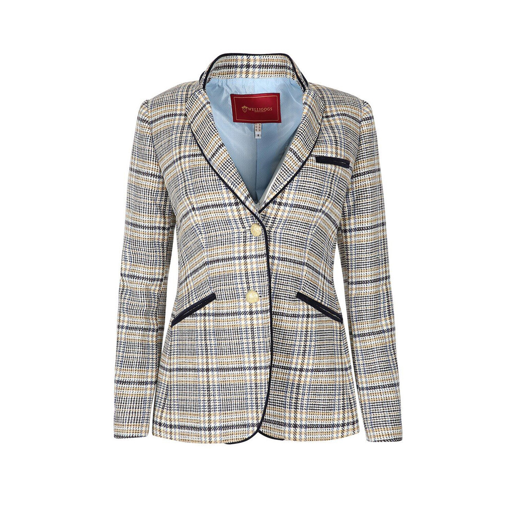 Welligogs Welligogs Burghley Tailored Jacket - Cream/Blue