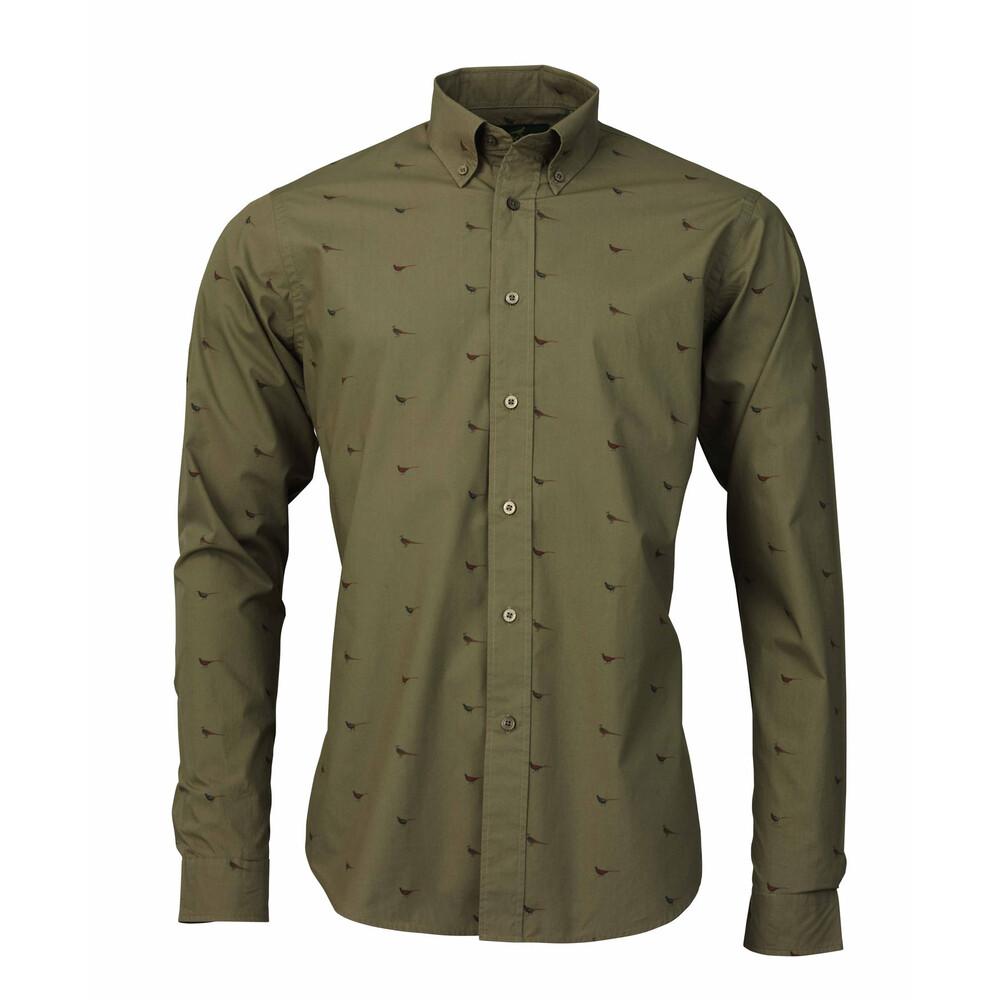 Laksen Fasante Poplin Shirt - Dust Green