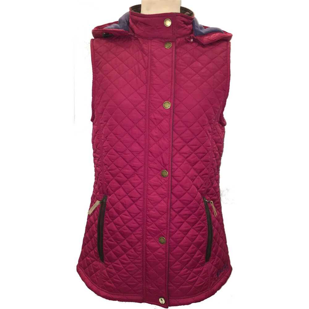 Jack Murphy Coleen Quilted Gilet Rhubarb Crumble