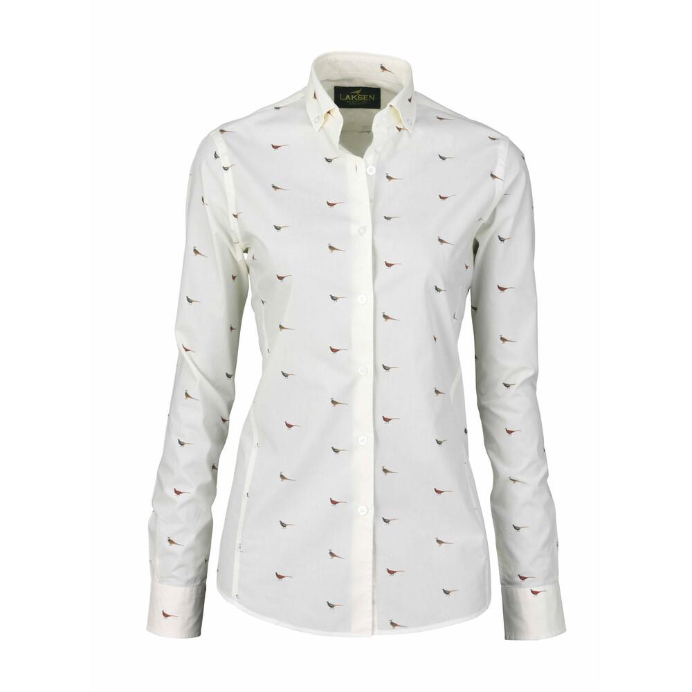 Laksen Laksen Hen Poplin Shirt - Cream