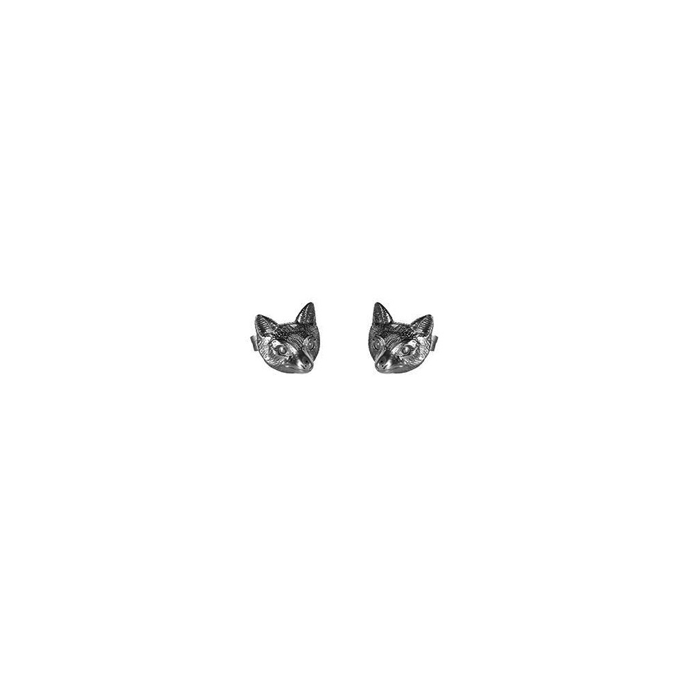 County Equestrian Jewellers County Equestrian Summer Fox Earrings Silver