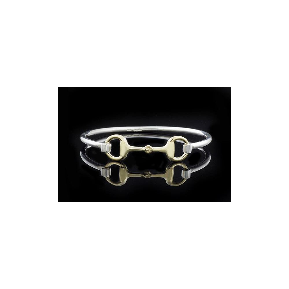 County Equestrian Jewellers County Equestrian Snaffle Bit Bangle Two Tone