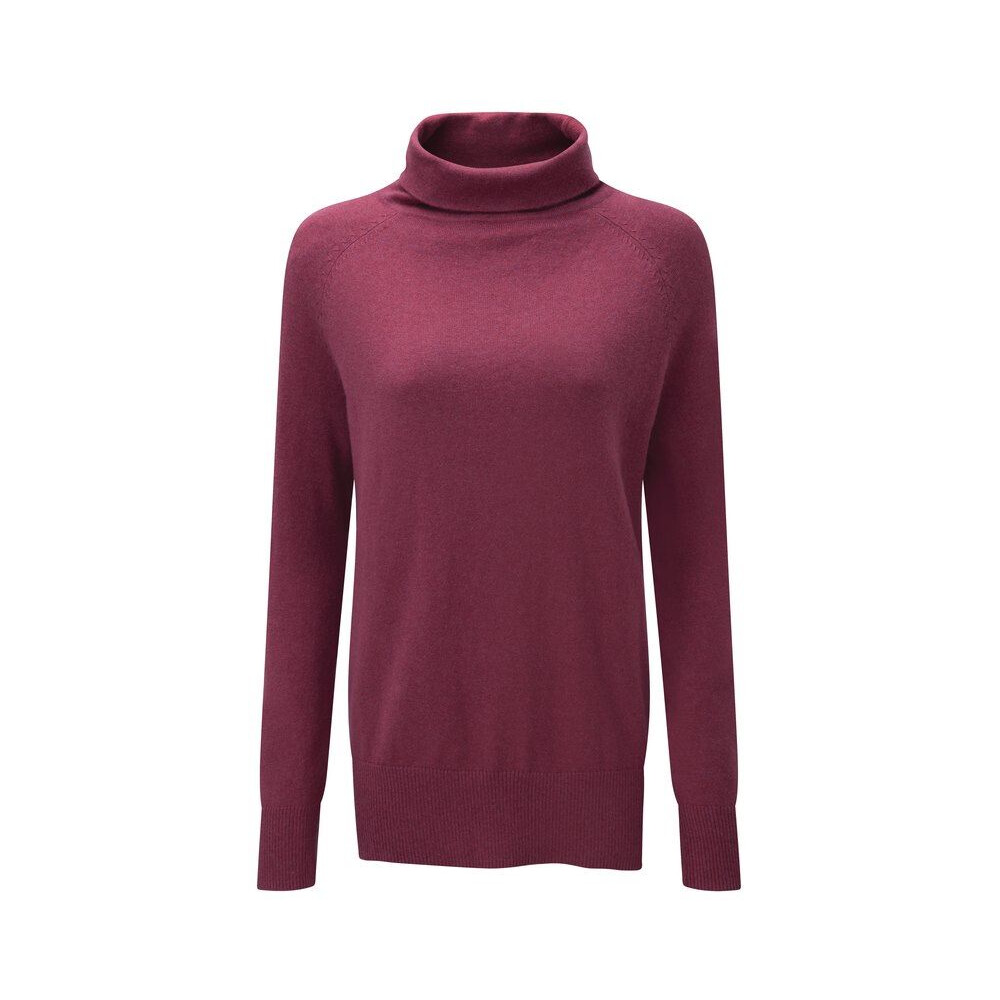 Schoffel Schoffel Ladies Cotton Cashmere Turtle Neck Jumper - Raspberry