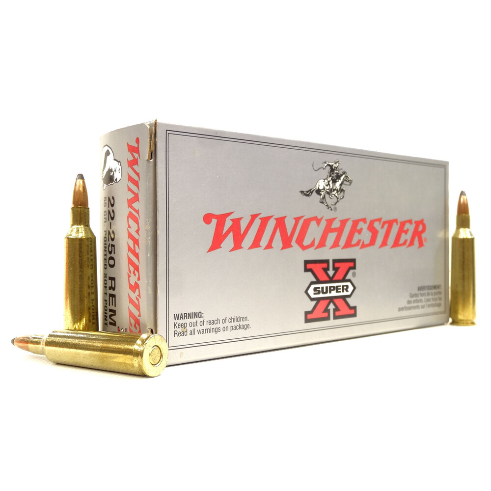 Winchester .22-250 Ammunition - 55gr - Super-X JSP