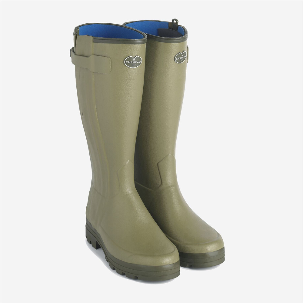 Le Chameau Le Chameau Chasseurnord Neoprene Lined Wellington Boots - Light Green