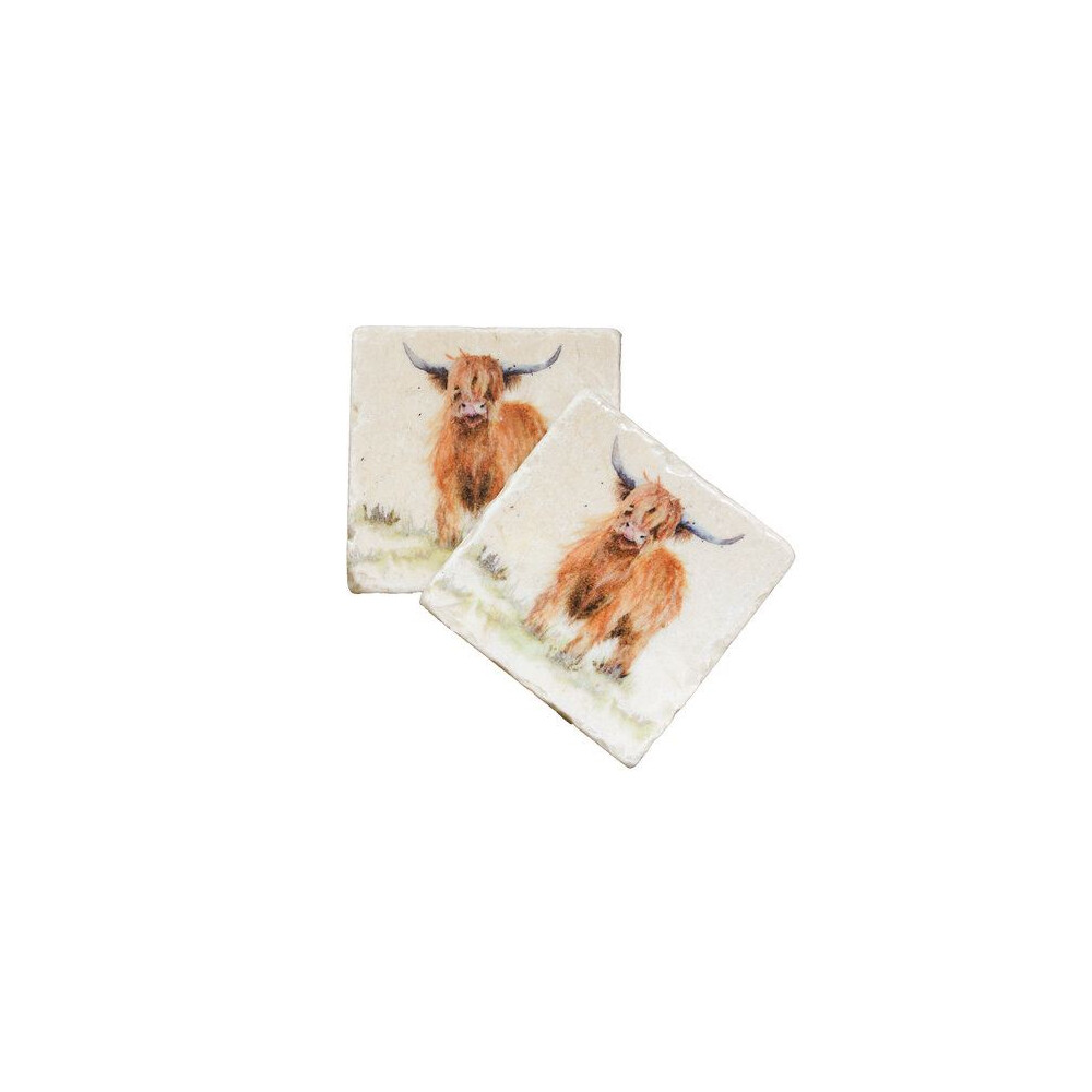 Kate Of Kensington Kate Of Kensington Coasters - Highland Cow (Pack of 2)