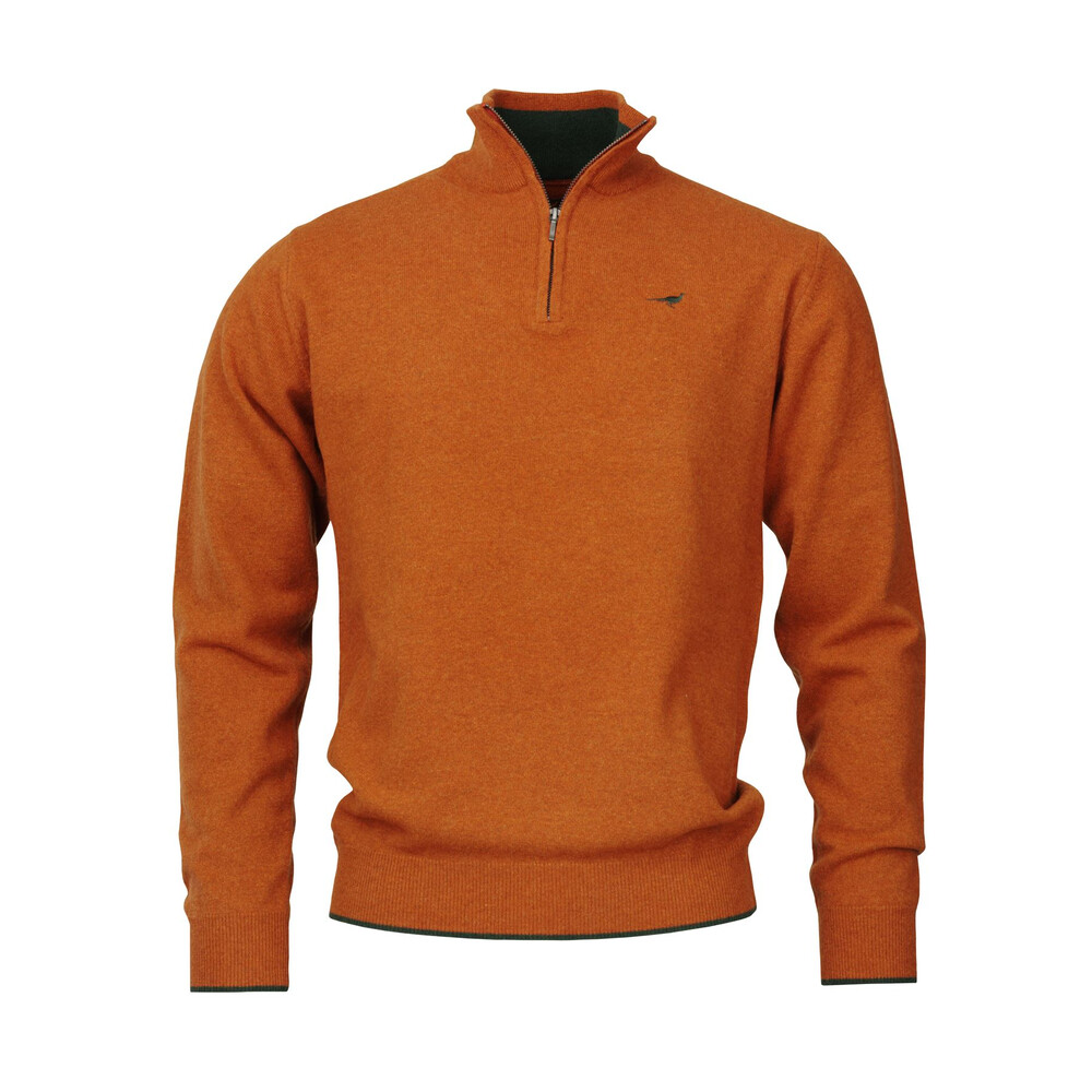 Laksen Wilton Zip-neck Sweater - Lava