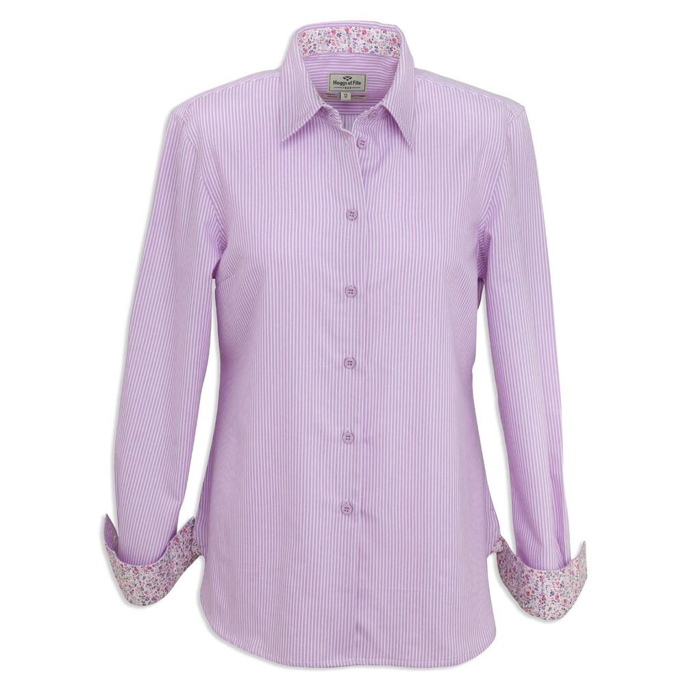 Hoggs Of Fife Hoggs of Fife Bonnie Ladies Country Shirt Lavender Stripe