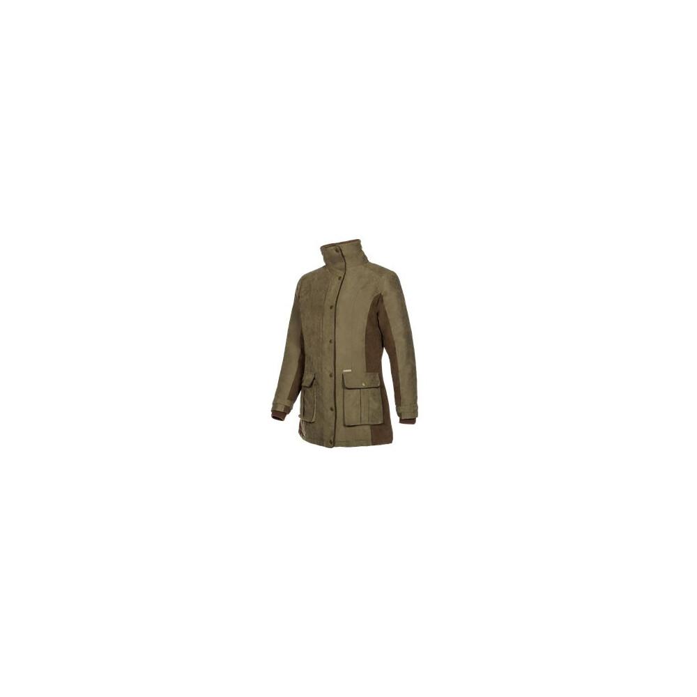 Baleno Baleno Snowfield Ladies Coat - Khaki/Chocolate - Size x