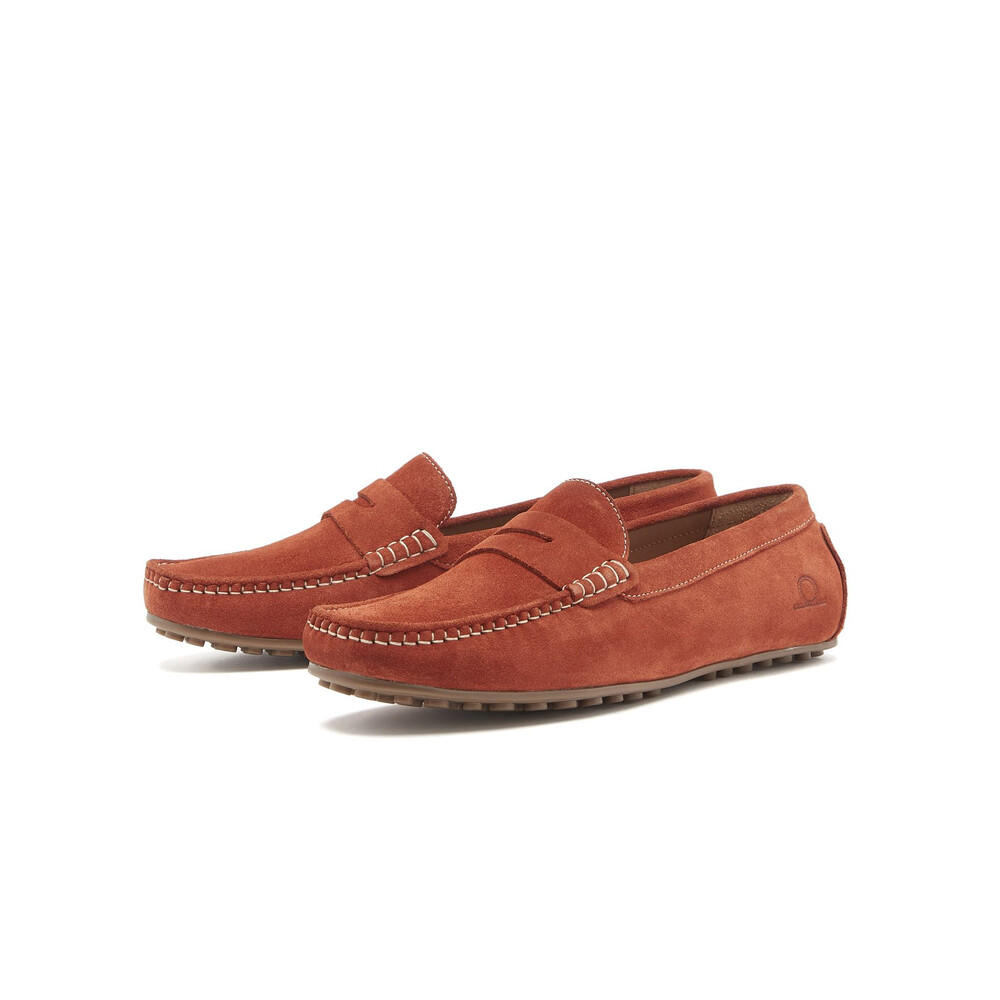 Chatham Parker Driving Moccasin Shoe Rust