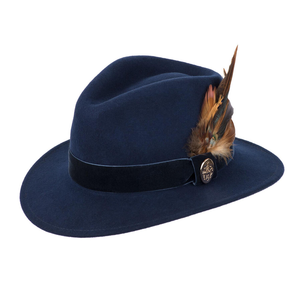 Hicks & Brown Chelsworth Fedora - Navy Blue