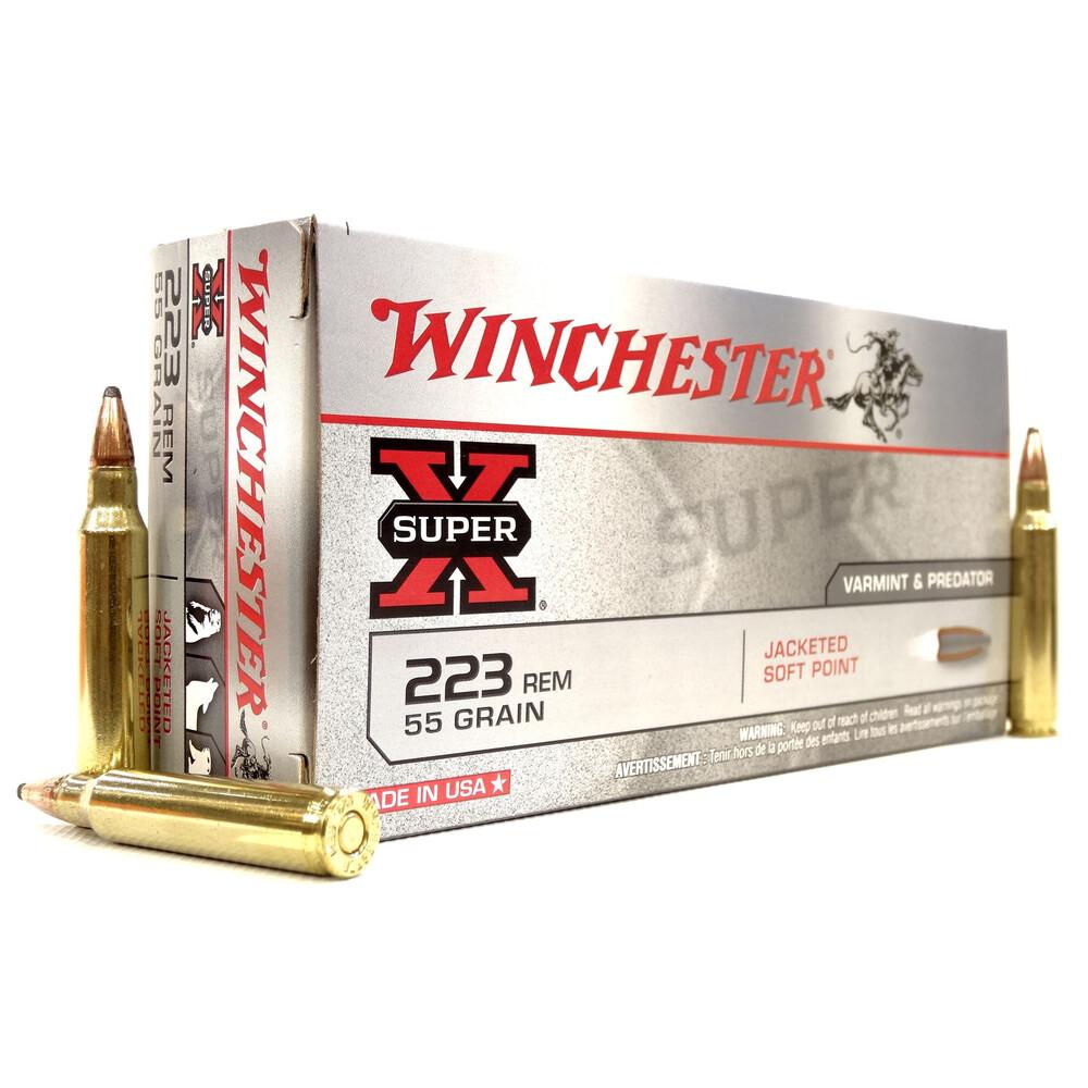 Winchester .223 Ammunition - 55gr - Super-X JSP