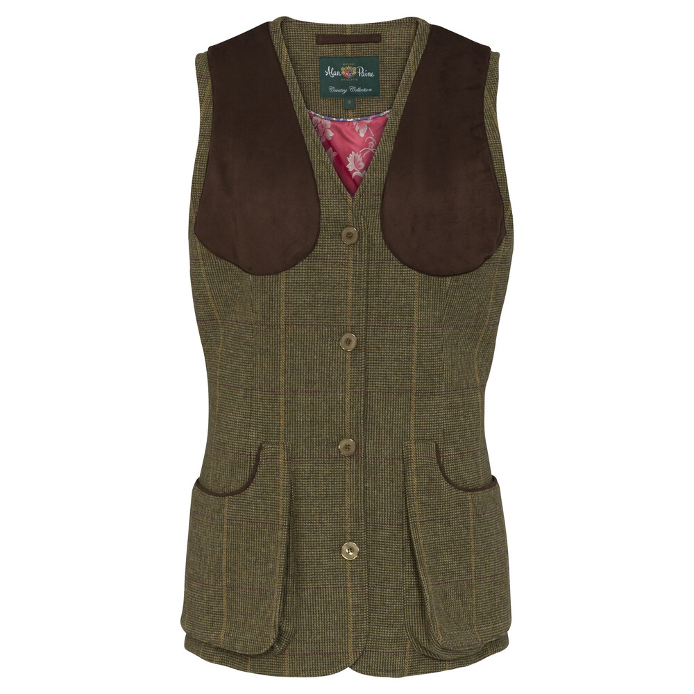 Alan Paine Combrook Ladies Shooting Waistcoat Heather