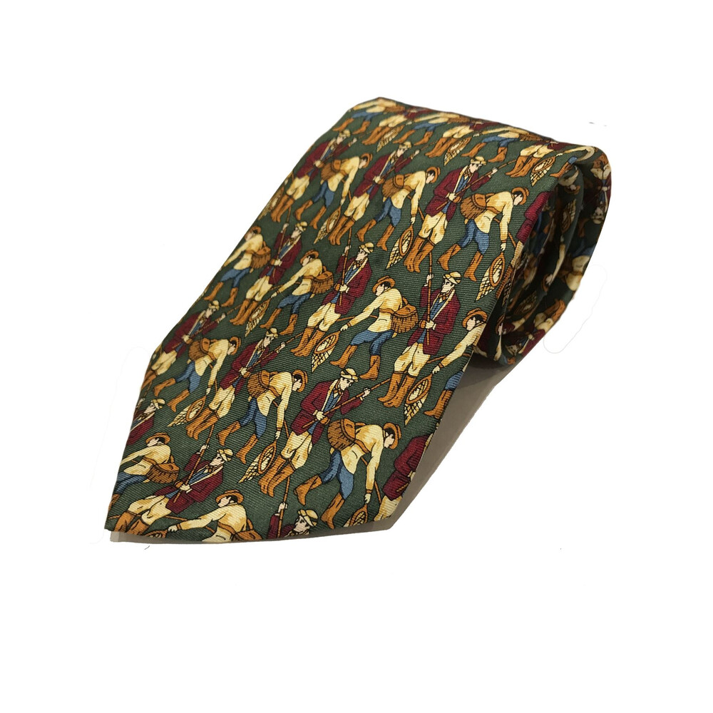 Allcocks Fly Fisherman Tie - Green Green